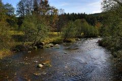 Kremelna, Autumn scenery in the Sumava Mountains, Stodulky, Czech Republic Royalty Free Stock Photo