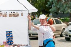 KREMENCHUG, УКРАИНА - 24-ое августа 2016: национальное праздник-дневное  Стоковое фото RF