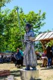 Kremenchug, Ukraine - June 3, 2017: Live statue on a fair royalty free stock photo