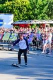 Skater doing tricks in skat royalty free stock photos