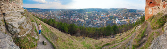 Kremenets town (Ternopil Oblast, Ukraine) Stock Photos