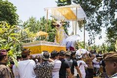 Kremering för Balineseceremonibegravning Royaltyfria Bilder