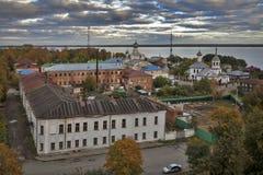 Kreml av den forntida staden av Rostov Veliky Ryssland guld- cirkel Fotografering för Bildbyråer