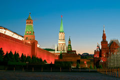 Kreml i den röda fyrkanten, Moskva, Ryssland arkivfoton