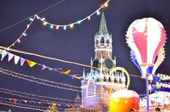 Kreml i det nya året royaltyfri fotografi