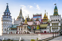 Kreml i Izmailovo i Moskva, Ryssland arkivfoto