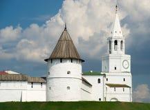 Kreml - kazan - russia. White kreml in kazan city - russia stock photo