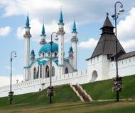 Kreml - kazan - russia. Kreml in kazan city with mosque - russia royalty free stock photo