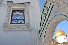 kreml Moscow Kolor fotografia Dormition kościół i Faceted sala Fotografia Royalty Free