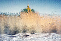 kreml Moscow Kolor fotografia odbicie abstrakcyjna wody Obrazy Stock