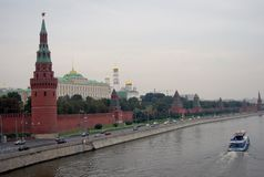 kreml Moscow Unesco Światowego Dziedzictwa Miejsce Fotografia Royalty Free