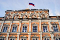 kreml Moscow wielki Kreml pałacu błękitne niebo tła Zdjęcia Royalty Free