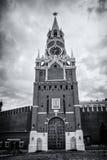 kreml nocy Moscow square spasskaya czerwony wieży Fotografia Stock