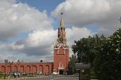 kreml nocy Moscow square spasskaya czerwony wieży kremlin moscow Rosja Fotografia Royalty Free