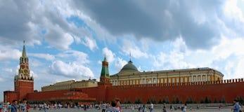 Kreml och mausoleum på den röda fyrkanten, Moskva Royaltyfri Bild