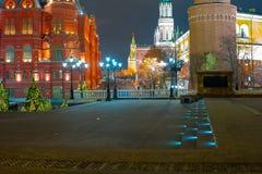 Kreml passage, sikten av Kreml Ryssland arkivfoto