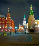 Kreml passage, sikten av Kreml royaltyfri fotografi