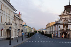 Kremlevskaya street. View of Kremlevskaya street from the Kazan Kremlin Stock Photo