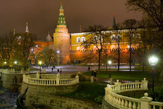 Kremlin. Side view on the Kremlin in Moscow Royalty Free Stock Images