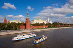 Kremlin. Beautiful kind to the Kremlin with Red Square stock photography