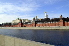 Kremlin. Red Square a temple in the afternoon the blue sky Royalty Free Stock Photo