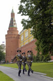 воины русского kremlin России Стоковая Фотография