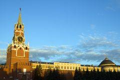The Kremlin. At sunrise. It's placed in Moscow, Russia Royalty Free Stock Photos