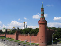 The Kremlin. Moscow; cathedral; tower; panoramic; history Stock Images