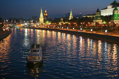 Kremlin across the Moscow River Stock Photos