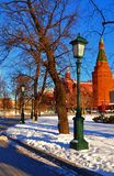 The Kremlin, Alexandrovsky garden Royalty Free Stock Photo