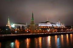 Kremlin alla notte Fotografia Stock Libera da Diritti