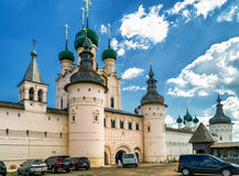 Kremlin of ancient town of Rostov The Great, Russia Royalty Free Stock Image