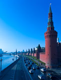 Kremlin And Moskva River, Moscow, Russia Royalty Free Stock Image