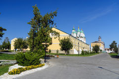 Kremlin area in Astrakhan. Russia Royalty Free Stock Photos
