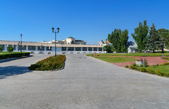Kremlin area in Astrakhan. Russia Royalty Free Stock Photo