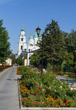 Kremlin area in Astrakhan. Russia Stock Photos