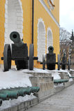 Kremlin Arsenal guns. In Moscow, Russia Stock Images