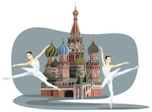 Kremlin and Ballerinas Royalty Free Stock Photography