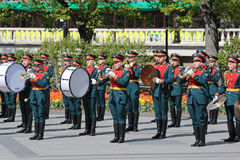 Kremlin brass band Stock Image