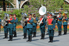 Kremlin brass band Royalty Free Stock Image