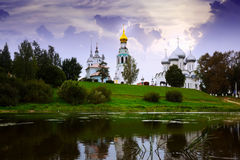 Kremlin Cathedral Square at sunny day in Vologda, Russia Royalty Free Stock Photography