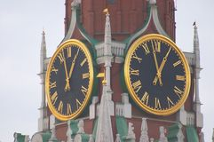 Kremlin clock Royalty Free Stock Photos