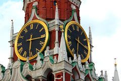 Kremlin clock, moscow, Russia Royalty Free Stock Photos