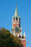 Kremlin clock of the Spasskaya Tower Stock Images