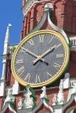 Kremlin clock tower Stock Photos