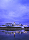 Kremlin on the coast of Kazanka River Royalty Free Stock Photo