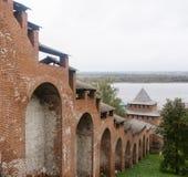 Kremlin dans Nijni-Novgorod, Fédération de Russie images libres de droits
