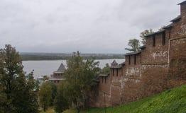 Kremlin dans Nijni-Novgorod, Fédération de Russie Photographie stock libre de droits