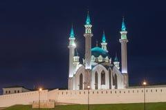 Kremlin de Kazan na noite Imagens de Stock Royalty Free