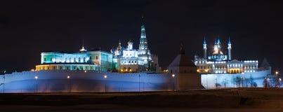 Kremlin de Kazan na noite Fotos de Stock